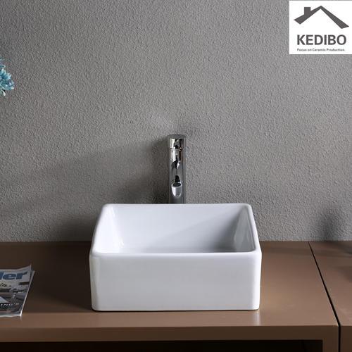 Square Bowl Bathroom Ceramic Sink 7037