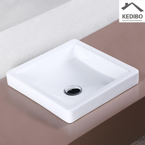 Square Bathroom Above Counter Top Art Basin 7037C