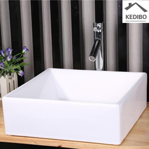 430*430 Square Bathroom Counter Top Ceramic Basin 7037F