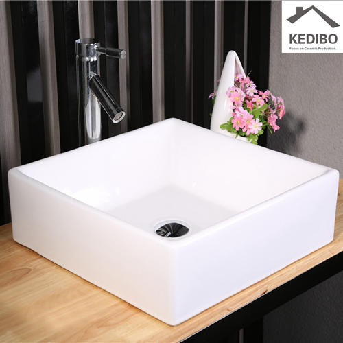 430*430 Square Bathroom Counter Top Ceramic Basin 7037F