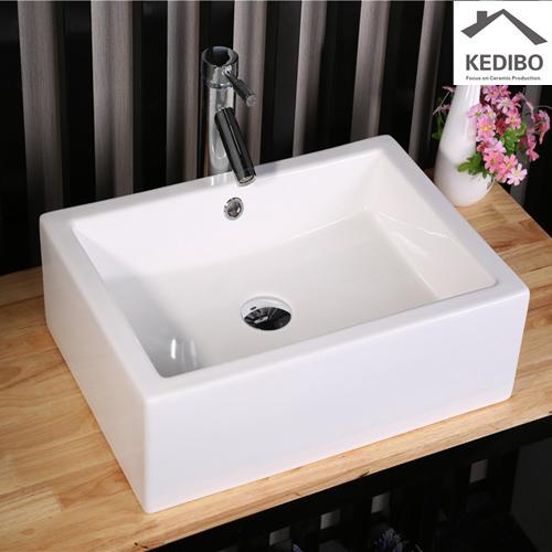 CSA Certification Bathroom Square Ceramic Basin  7038G