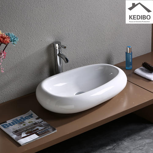 590*400 Long oval CE Bathroom Art Basin  7041B