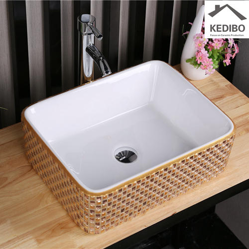 470*370 Rectangle Special Mosaic Bathroom Art Basin 7050