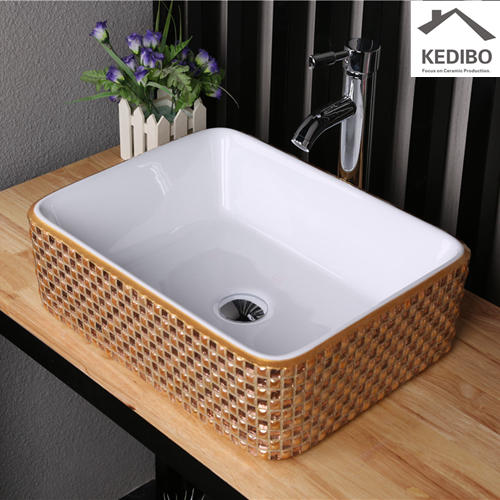 470*370 Rectangle Special Mosaic Bathroom Art Basin 7050