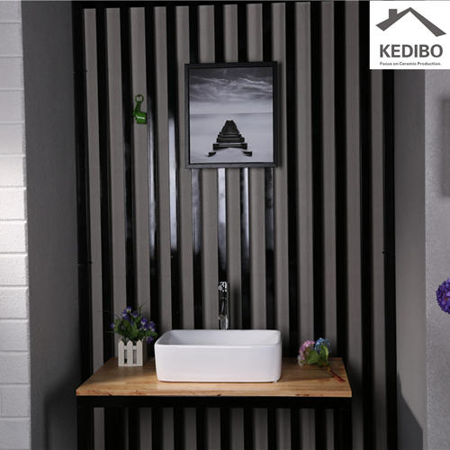 485x300 Rectangle Bathroom Ceramic Art Basin 7050A
