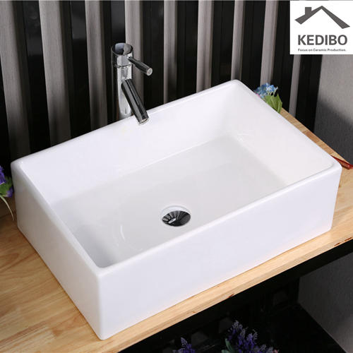 500x390 CSA Straight Rectangle Ceramic Art Basin 7050D