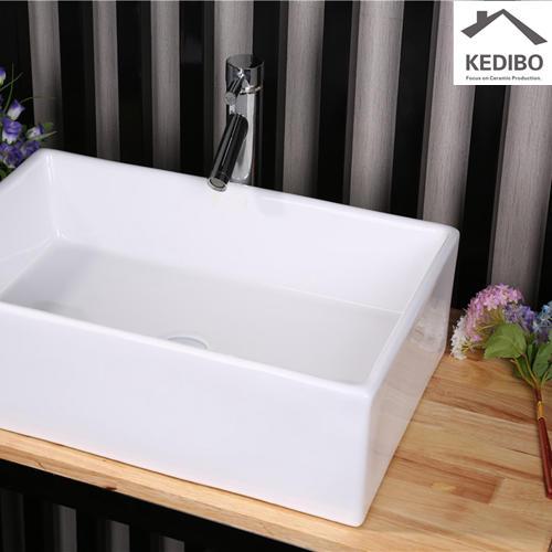 500x390 CSA Straight Rectangle Ceramic Art Basin 7050D