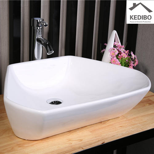 600x420 Trapezoid shape Bathroom Special Design Ceramic Basin 7070