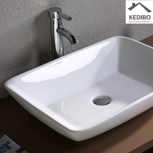 585x435 Rectangle Bathroom White Ceramic Basin Sink 7078D