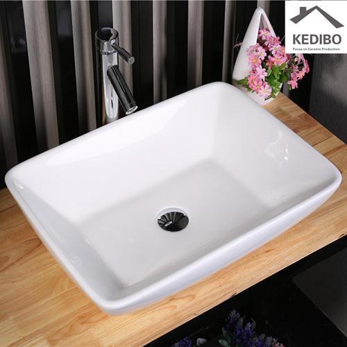 585x435 Rectangle Bathroom White Ceramic Basin Sink 7078D