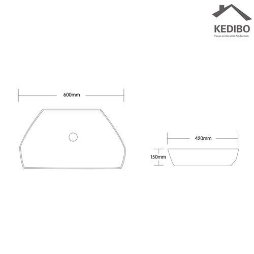 KEDIBO Brand basn big toilet wash basin design super