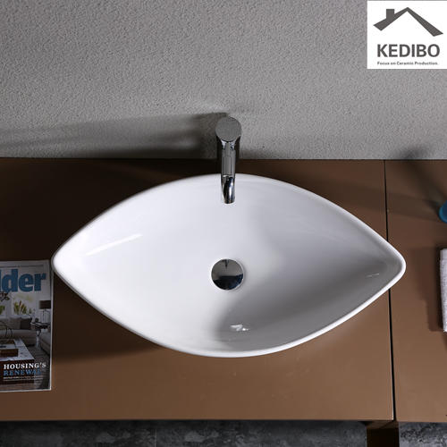 700x370 Big Size Bathroom Mango Shape Art Basin 7093A