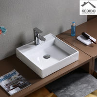 445x445 Square 100mm Height Bathroom Art Basin  7094B