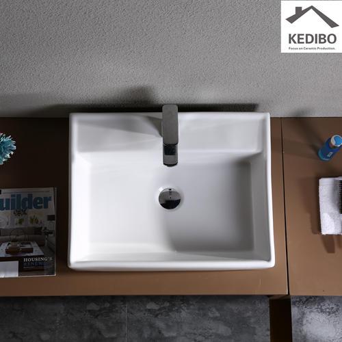 445x445 Square 100mm Height Bathroom Art Basin  7094B