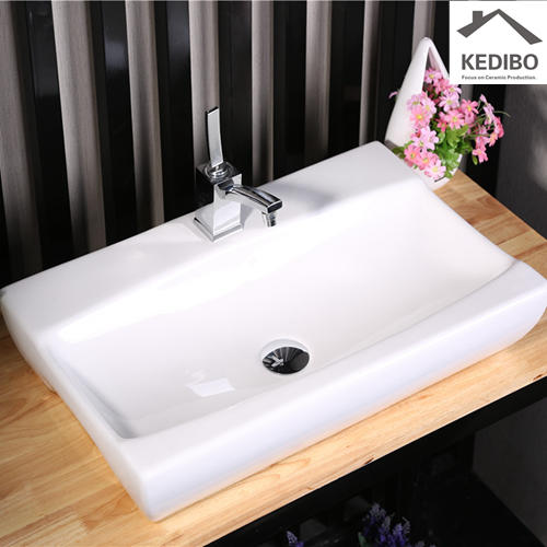 620X390 Bathroom Ceramic Counter Top Basin 7095