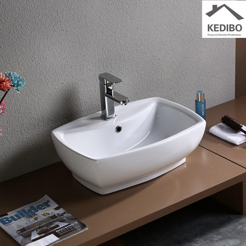 560x390 Rectangle Bathroom Ceramic Basin 7534B
