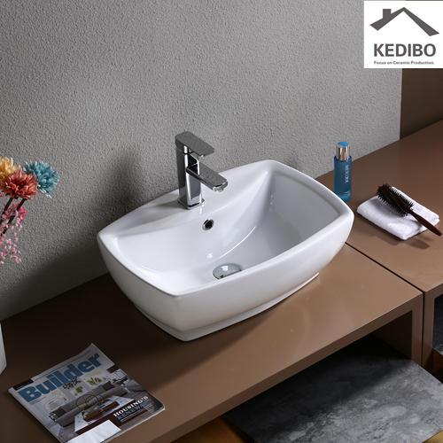 560x390 Rectangle Bathroom Ceramic Basin 7534B