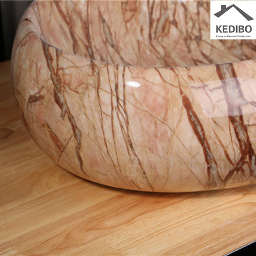 590x400 CSA Marble Oval Big Size Bathroom Top Mounted Basin 8005