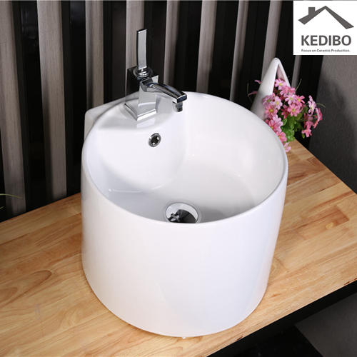 420X410 Bathroom High Height Washing Basin With Tap Hole 8008