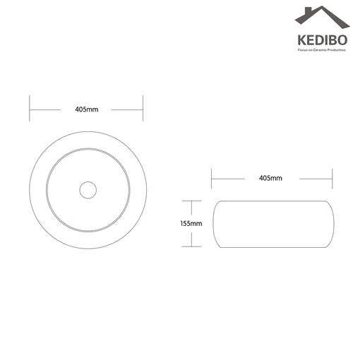 405x405 Bathroom Round Small Counter Top Basin 8002