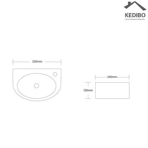 top stylish toilet wash basin design capacity bathroom KEDIBO Brand