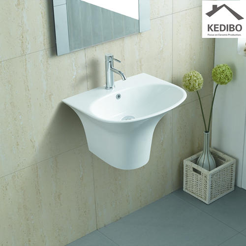 555X470 Half  Pedestal Wall Hung Basin With One Tap Hole 5100B