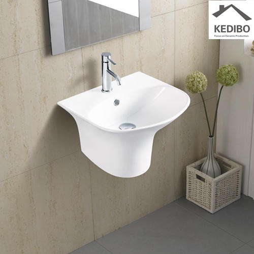 460X420 Half-pedestal Oval Ceramic Wall Hung Basin 5100C