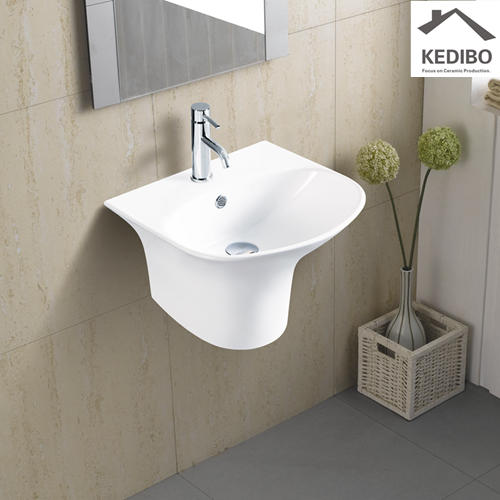 350X350 Small Size Wall Hung Ceramic Basin 5100D