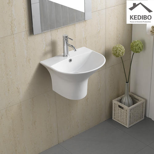 480x425 Oval Thin Edge Outdoor Wall Hung Ceramic Basin 5300C