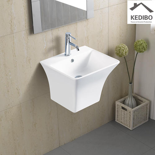 485X430 Rectangle Thin Edge Wall Hung Basin Sink 5400B