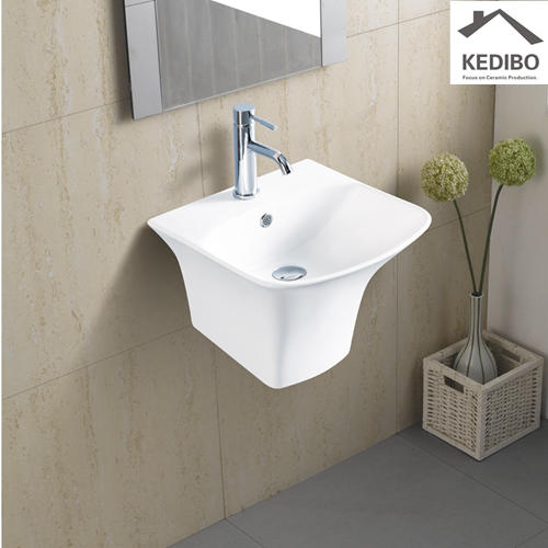 440x425 Square Wall Hung Ceramic Basin Sink 5200C