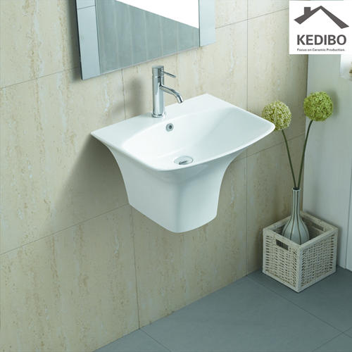 560x460 Thin Edge Square Wall Hung Ceramic Sink 5200B