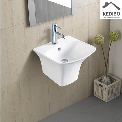 355X350 Square Bathroom Wall Hung Basin Sink 5200D