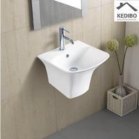 355X350 Square Bathroom Wall Hung Basin Sink 5200D