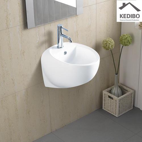 340x435 Round Ball Design Wall Hung Ceramic Basin 5500C