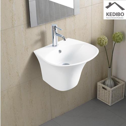 485x450 Round Bowl Ceramic Washing Sink Wall Hung Installation 5600C