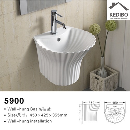 different style wall hung basin shell grab now for restaurant-2