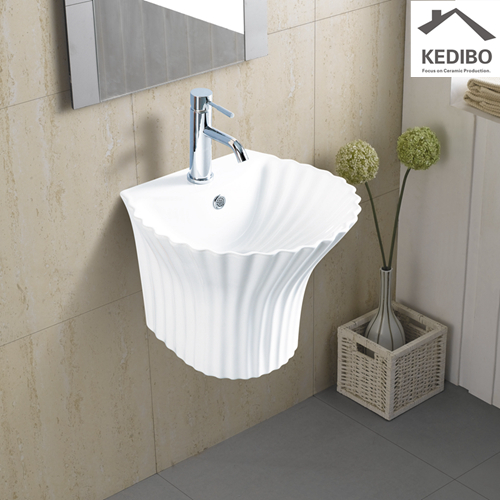 different style wall hung basin shell grab now for restaurant-1