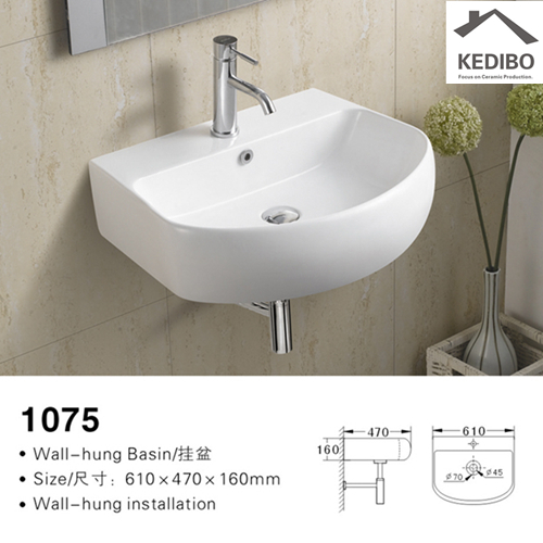 widely used wall hung basin installation factory price for commercial hotel-2