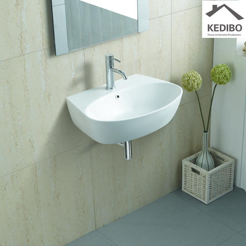 590x430 Oval Simple White Ceramic Wash Sink 1072