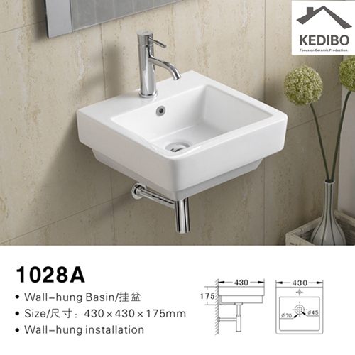 KEDIBO widely used wall mount bathroom sink special for official bathroom-2