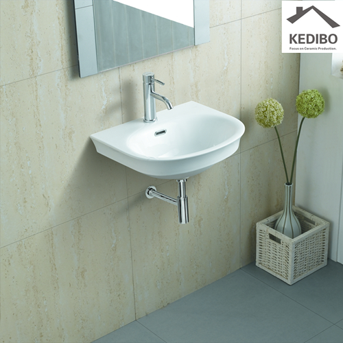 pratical wall hung basin installation wholesale for commercial hotel-1
