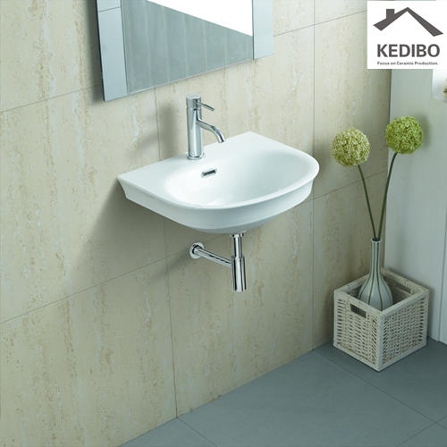 505x425 Oval Simple Bathroom Porcelain Wall Hung Basin 630