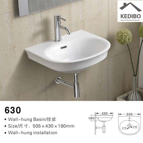 pratical wall hung basin installation wholesale for commercial hotel-2
