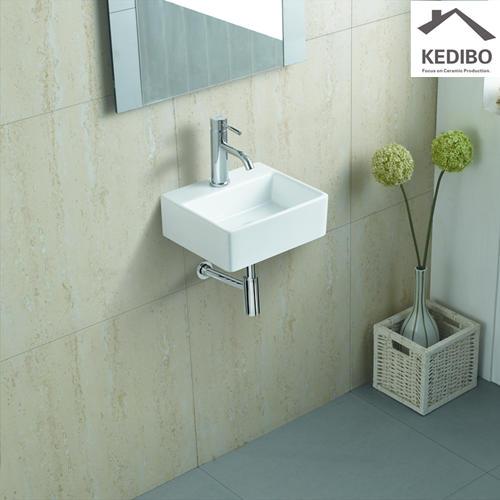340x295 Small Size Rectangle Slim Wall Hung Basin 006