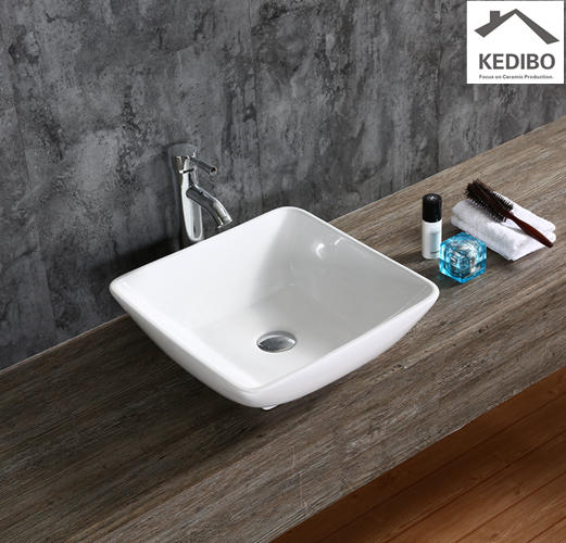 420x420 Dish Shape Bathroom Ceramic Art Basin 7072