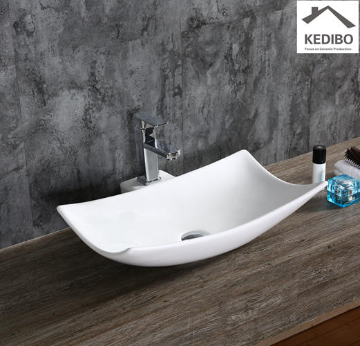 580x380 Special Design Art Bathroom Ceramic Counter Top Basin 7078