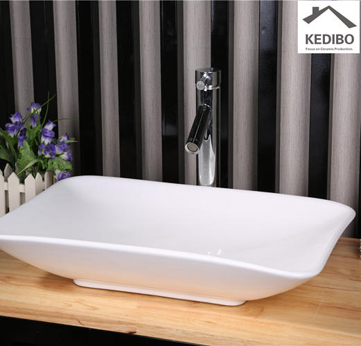 590x360 Rectangle Bathroom Wash Basin Without Tap 7078A