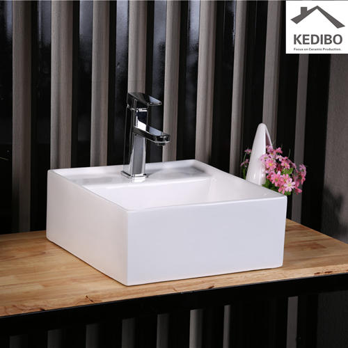 410*410 CSA Approved White Ceramic Bathroom Basin 7094A-1