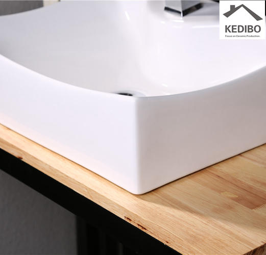 540*400 Square Bathroom White Ceramic Art Basin 7097A